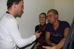 Anne und Anichi beim Interview mit Sven Goldmann