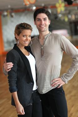Sylvie van der Vaart mit neuem Tanzpartner - Chistian Polanc - (c) RTL / Andreas Friese