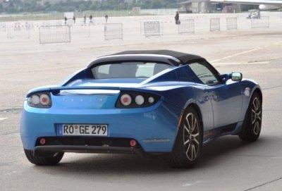 Tesla Roadster Heck-Ansicht
