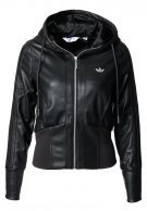 Schwarze adidas-Jacke - faux leather