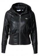 Schwarze adidas-Jacke - faux leather