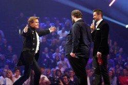 Dieter Bohlen, Michael Holderbusch und Marcus Schreyl beim Supertalent 2010 - Foto: (c) RTL / Stefan Gregorowius