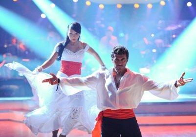 Dancing Stars Julia Polai und Mike Galeli bei den Proben zur Show - Foto: ORF/Ali Schafler
