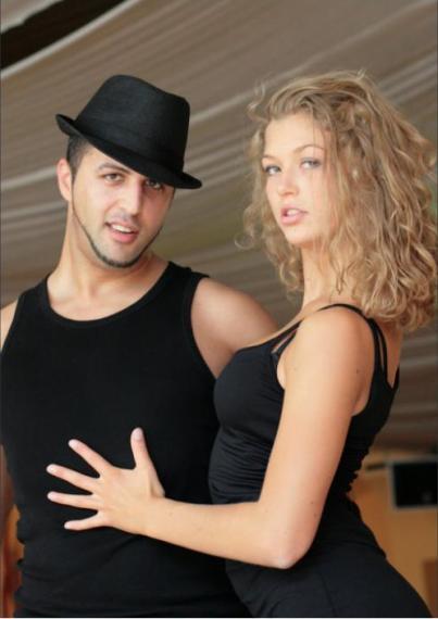 Kim Wojtera und Periklis Kalaitzis (Aki)