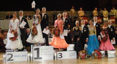 Deutsche Meisterschaft 2011 Standardtänze Hauptgruppe S in Nürnberg - Siegerehrung