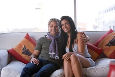 Anja mit Bachelor Paul im Glück - Foto: (c) RTL / Charlie Sperring