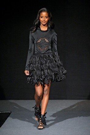 Christina Duxa - Fashion Week 2012 Berlin - La vie en Rose - Kollektion mit Claudia Effenberg