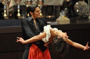 Christian Polanc und Melissa Ortis-Gomez bei ihrer siegreichen Latein-Kür