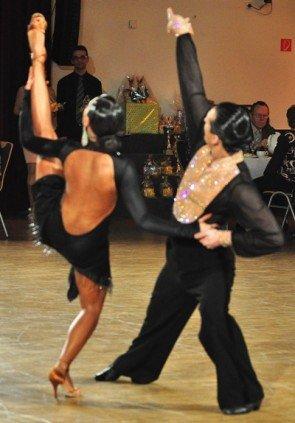 Vladyslav Talybin und Evgenia Poskrebysheva zum GP von Deutschland 2012 Latein-Tänze - 1