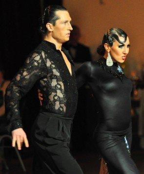 Vladyslav Talybin und Evgenia Poskrebysheva zum GP von Deutschland 2012 Latein-Tänze - 2