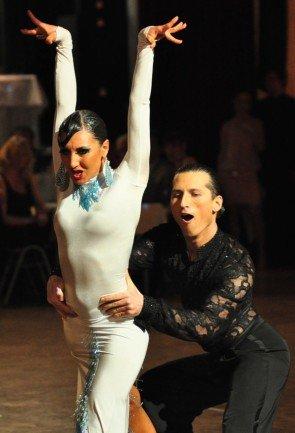 Vladyslav Talybin und Evgenia Poskrebysheva zum GP von Deutschland 2012 Latein-Tänze - 3
