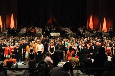 International Dance Masters Mannheim 2012 - Aufmarsch im großen Saal