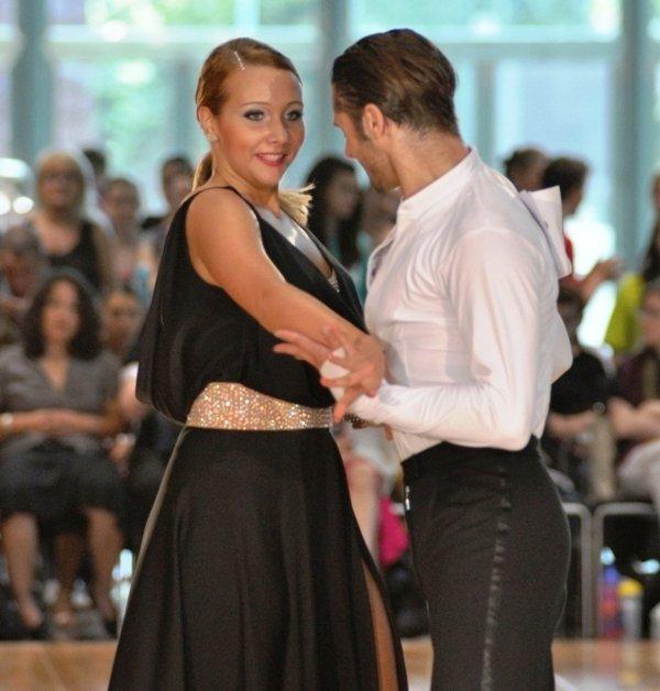 Pawel mit Partnerin im Pro-Am-Latein-Turnier Mannheim 2012