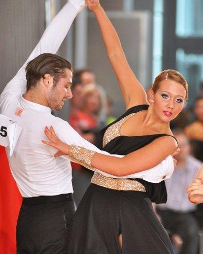 Pawel und Partnerin beim Pro-Am-Turnier Latein Mannheim 2012
