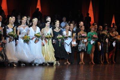 Siegerehrung Mannheim 2012 Profis Standard- und Latein-Tänze