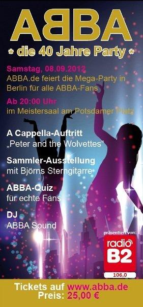 Abba-Party Berlin - 40 Jahre Abba