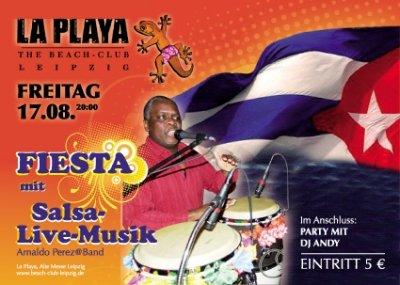 salsa party in leipzig mit live musik am 17 august 2012. Black Bedroom Furniture Sets. Home Design Ideas