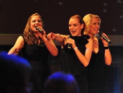 Henriette Groth, Jennifer Kothe und Stefanie Polster v.l.n.r. mit Abba-Hits a capella