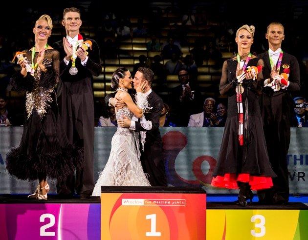 Tanzsport-Magazin - Siegerehrung World Games 2017 Standardtänze