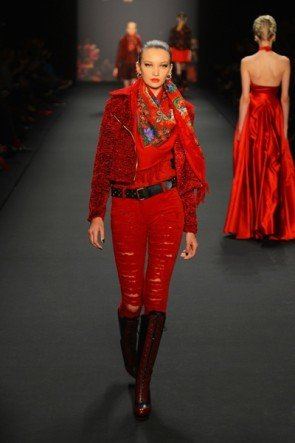 Lena Hoschek zur Mercedes Benz Fashion Week 2013 Januar - 10