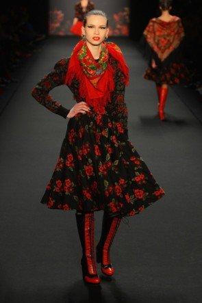 Lena Hoschek zur Mercedes Benz Fashion Week 2013 Januar - 12