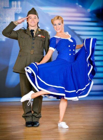 Rainer Schönfelder - Manuela Stöckl - ready for Jitterbug - Dancing Stars 2013 -Foto: ORF - Ali Schafler