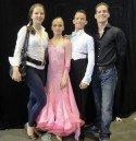 Arseni Pavlov – Nicole Balski mit ihren Trainern Sandra Koperski und Steffen Zoglauer