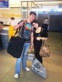 World Games 2013 - Sergey und Viktoria Tatarenko vor dem Abflug nach Cali