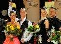 Sandra Koperski, Steffen Zoglauer, Johanna-Elisabeth Klisan und Adrian Klisan (v.l.n.r.) -für Deutschland bei der Kür - WM Standard 2013 -Foto:(c) Salsango - Karsten Heimberger