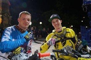 Stunt-Männer Kai Haase und Gerhard Mayr beim Supertalent 2013