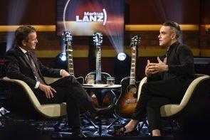 Robbie Williams und Markus Lanz am 14.12.2016 im ZDF