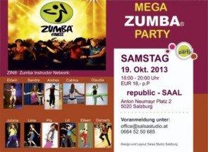 Zumba-Party in Salzburg am 19. Oktober 2013