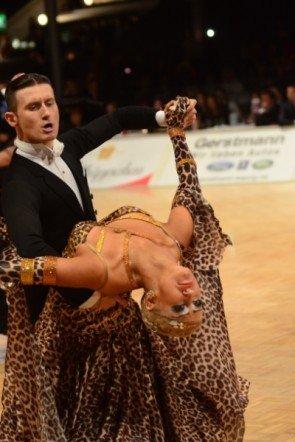 Andrey Chubarev – Anastasia Yermolenko - Platz 3 zur Profi-EM Standard 2013 in Leipzig - Foto: (c) Salsango / Sven Goldmann