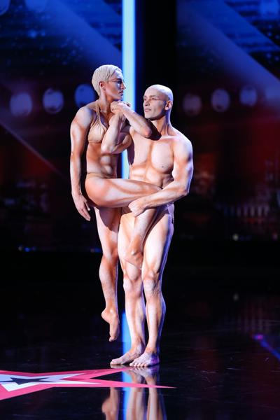 Im 1. Halbfinale Supertalent 2013 dabei - Richard Jecsmen und Yana Semilet von La Vision - Foto: (c) RTL / Stefan Gregorowius