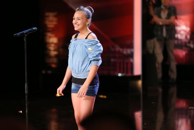 Sophie Schwerthöffer im Halbfinale vom Supertalent 2013 - Foto: (c) (c) RTL / Stefan Gregorowius