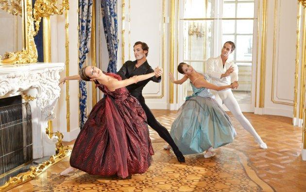 Mihail Sosnovschi, Nina Poláková, Alexis Forabosco, Maria Yakovleva vom Wiener Staatsballett - Foto: ORF/Günther Pichlkostner