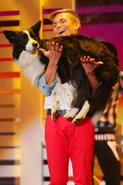 Supertalent 2013 Gewinner - Lukas Pratschker und Hund Falco - Foto: (c) RTL / Stefan Gregorowius