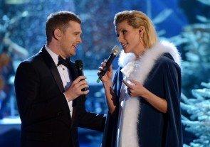 Wetten dass..? - kurzweilig und unterhaltsam am 14. Dezember 2013 Dank Michelle Hunziker und Michael Buble - Foto: ZDF und Sascha Baumann