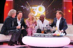30 Jahre RTL - Thomas Gottschalk mit Guido Maria Kretschmer, Lena Gercke, Bruce Darnell und Dieter Bohlen - Foto: (c) RTL / Stefan Gregorowius