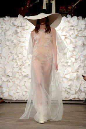 Transparentes Kleid von Kaviar Gauche - Fashion Week Berlin Januar 2014 - 02