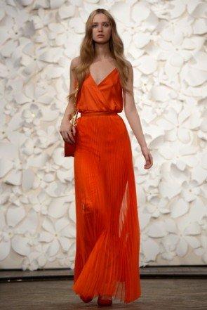 Rotes Kleid von Kaviar Gauche - Fashion Week Berlin Januar 2014 - 05