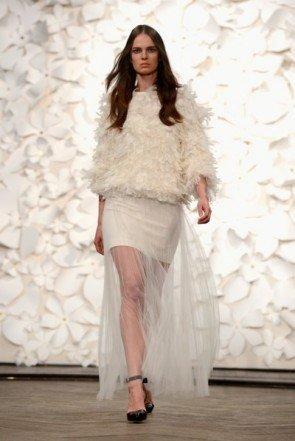 selten bei Kaviar Gauche ein kurzer Rock - Fashion Week Berlin Januar 2014 - 09