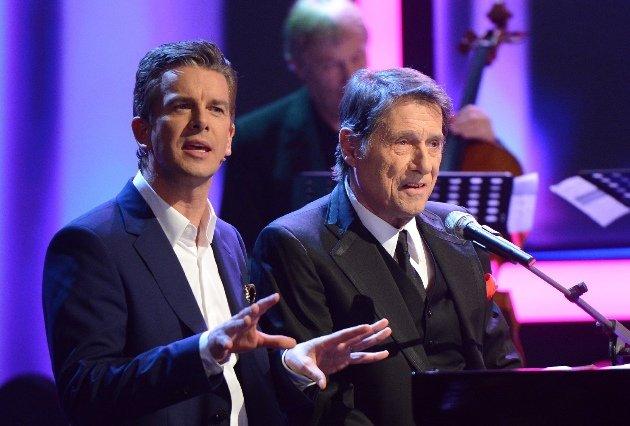 Wetten, dass..? 22.2.2014 - Markus Lanz mit Udo Jürgens - Foto: (c) ZDF und Sascha Baumann