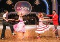 Dancing Stars 2014 Show 7 am 25.4.2014 - hier: Hubert Neuper, Kathrin Menzinger, Melanie Binder, Danilo Campisi - Foto: (c) ORF - Milenko Badzic