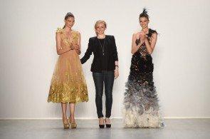 Irene Luft mit 2 ihrer Models zur MB Fashion Week Berlin Juli 2014