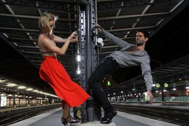 Tanz-Performance zur altonale Hamburg am 3. Juli 2014 mit Magdalena Chowaniec und Mathieu Grenier