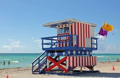 Miami Beach Strandwächter-Häuschen - Foto: (c) Andrea Damm - pixelio.de