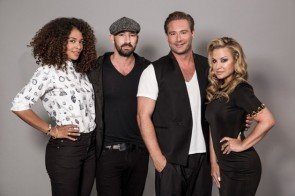 Rising Star Jury auf RTL - v.r.n-l.: Anastacia, Sasha, Gentleman, Joy Denalane Foto: © RTL / Sebastian Schmidt