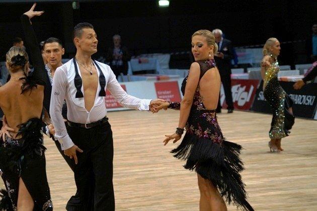 Florian Gschaider - Manuela Stöckl - WM 10 Tänze 2014 - Foto: (c) Karsten Heimberger