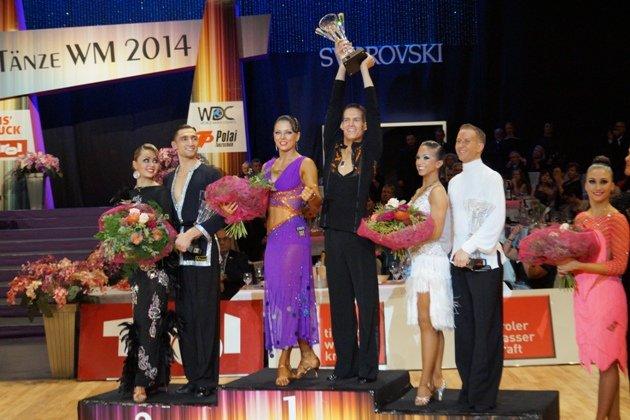 WM 10 Tänze 2014 - die 3 erstplatzierten Tanzpaare - Foto: (c) Salsango - Karsten Heimberger